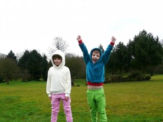 Handmade kids sweatshirt and slim fit joggers