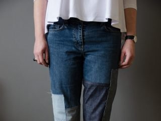 How to customise your jeans – patchwork style – tutorial