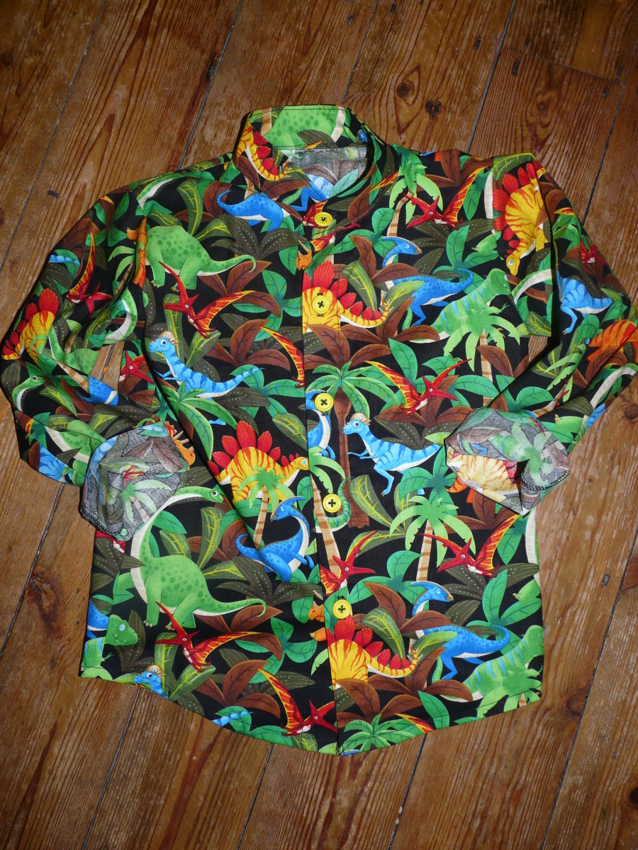dinosaur shirt bobbins and buttons