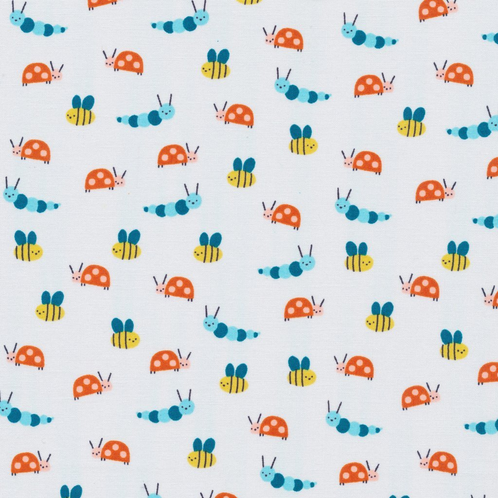 Cloud 9 spring walk garden friends citron printed for Printed cotton fabric