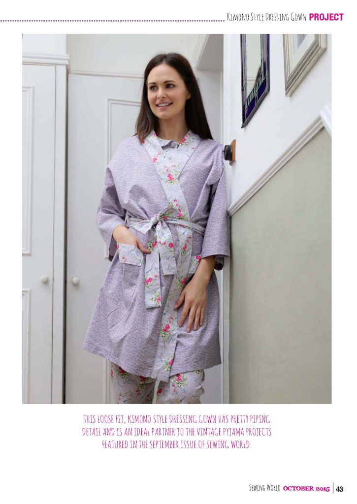 Kimono Dressing Gown Project For Sewing World Magazine Bobbins