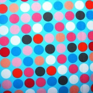 Polka dots-printed cotton jersey fabric