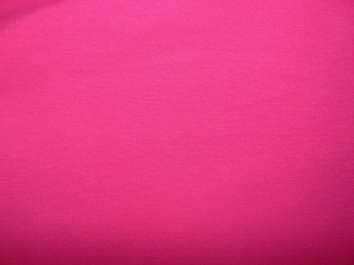 Plain hot pink cotton sweatshirt jersey fabric - Bobbins ...
