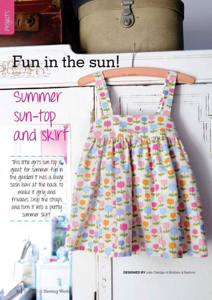 summer sun-top/skirt project