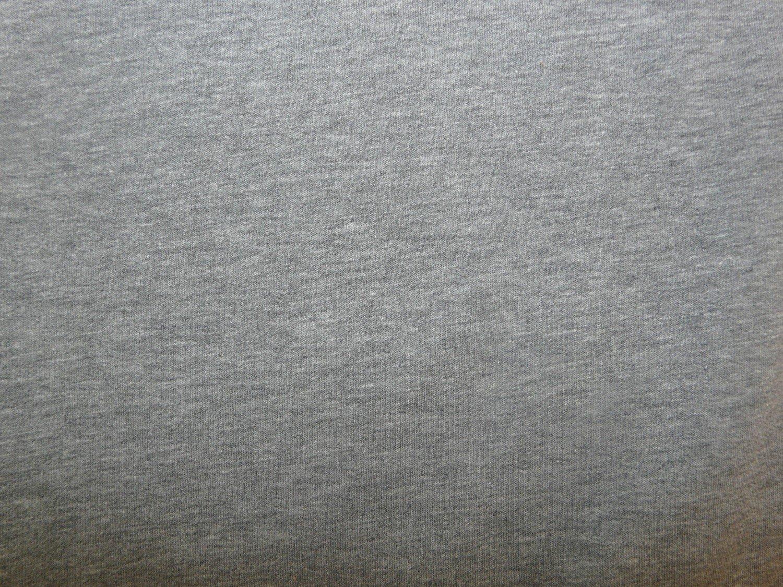 Plain Grey Marl Cotton Sweatshirt Jersey Fabric Bobbins