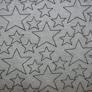 Star print grey marl cotton sweatshirt