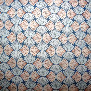 Orange and blue fan