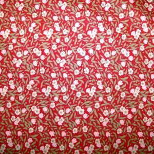 Pima cotton lawn - Red floral