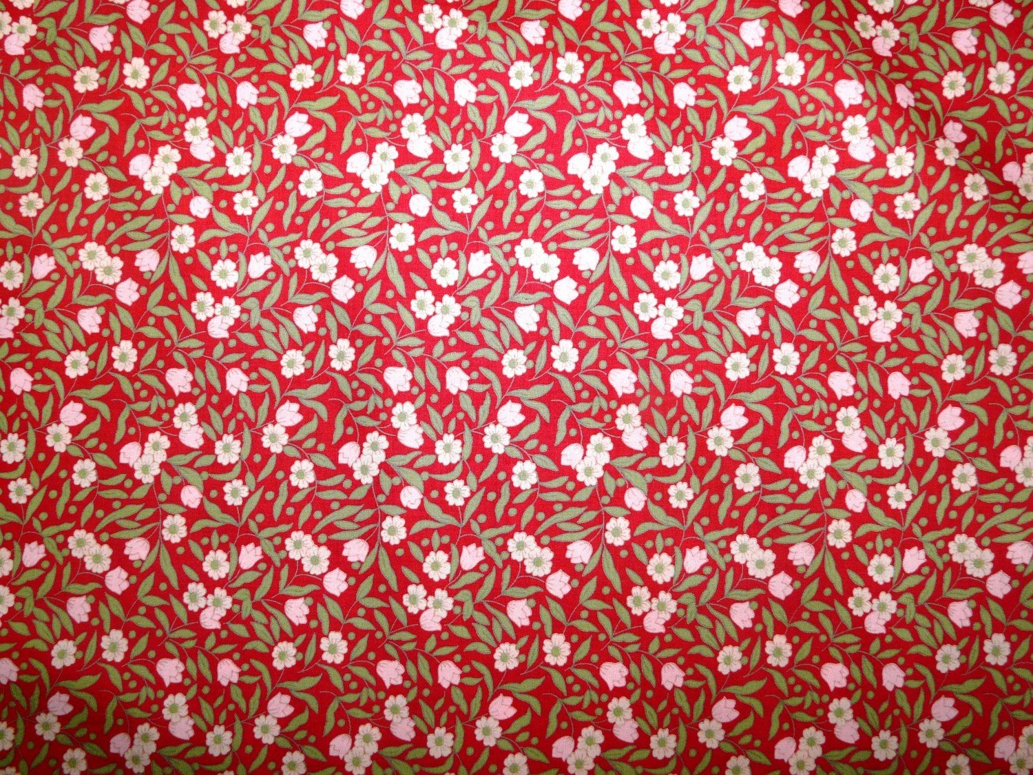 Pima cotton lawn red floral printed cotton fabric for Printed cotton fabric