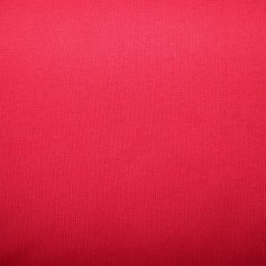 Red cotton jersey ribbing