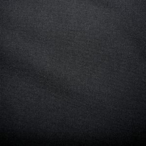 Plain Black cotton jersey ribbing