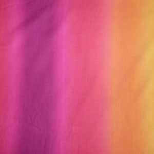 Ombre printed cotton fabric - hot pink to orange