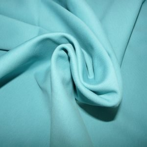 Double cotton jersey fabric - Aqua