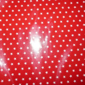 red star printed fabric