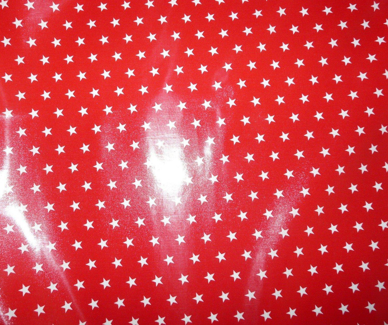 Laminated Cotton Red Star Printed Fabric Bobbins