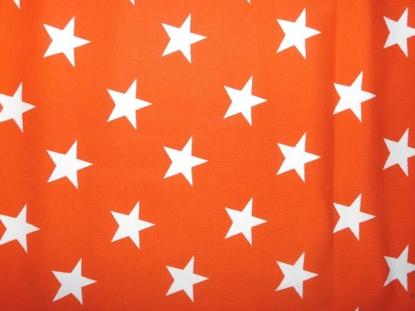 Orange star print