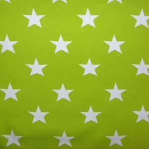 Lime green star print