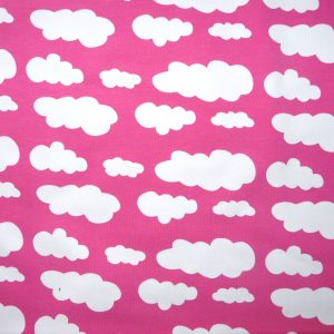Hot pink cloud print knit