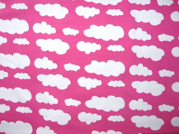 Hot pink cloud print knit