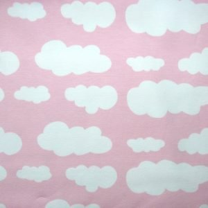 Pale pink cloud print knit