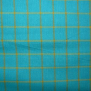 Window Dressing Big Plaids Turquoise