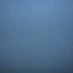 Plain denim blue cotton jersey ribbing