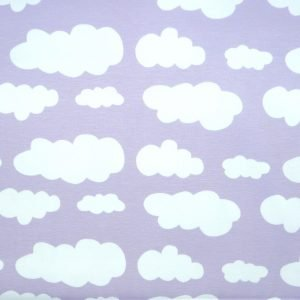Lilac cloud print knit