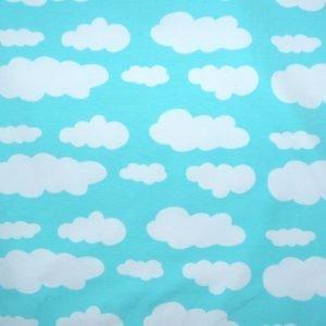 Mint cloud print knit