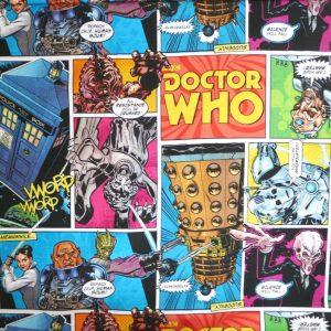 Dr Who comic strip cotton