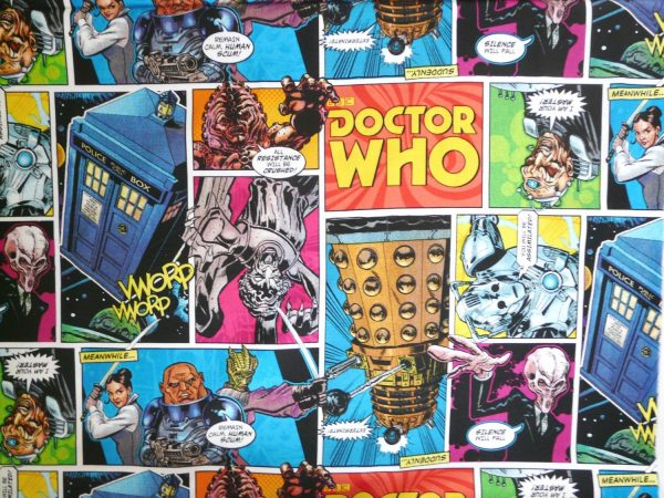 Dr Who comic strip cotton