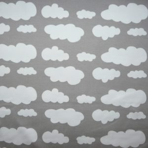 Grey cloud print knit