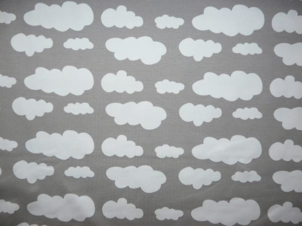 Grey cloud print knit