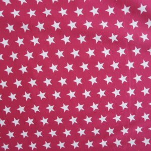 Hot pink small star print