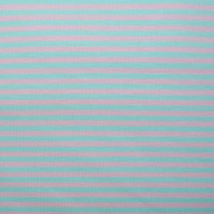 Pink and mint engineered stripe