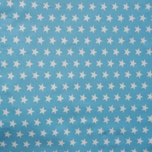 Sky blue small star print