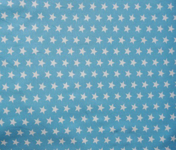 Sky blue small star print