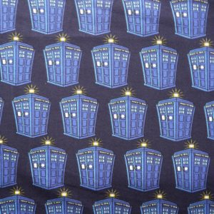 Dr Who tardis printed knit