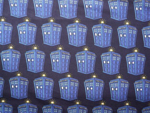 Dr Who tardis printed knit