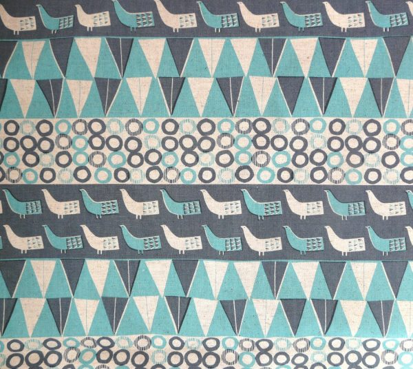 Bird print cotton/linen fabric