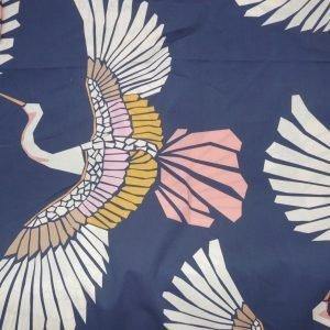 Marabou mosaic bird print-navy