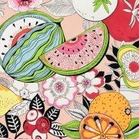 Alexander Henry Tropical punch Printed Cotton