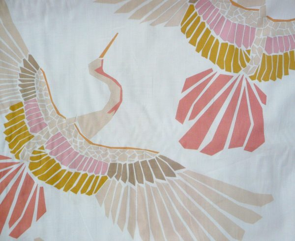 Marabou mosaic bird print