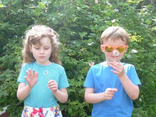 My first handmade clothes – aged 5 and 7