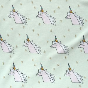 Unicorns on mint print