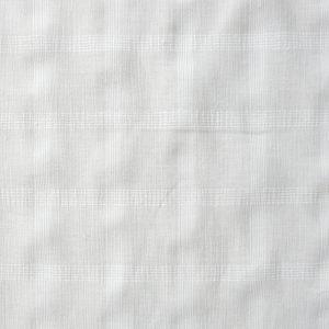 White check semi sheer fabric