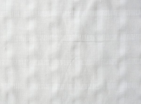 White check semi sheer fabric