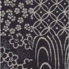 Sevenberry indigo patchwork print