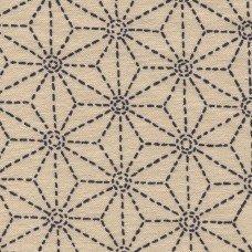 Sevenberry beige stitched star print