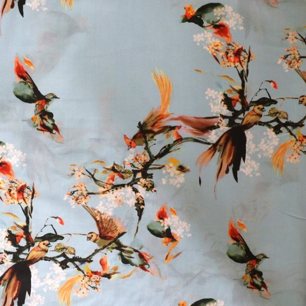 Lady McElroy - Pale blue oriental birds