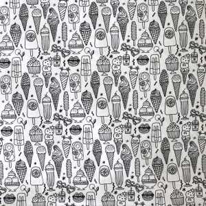 Rico - Black and white mixed ice creams print